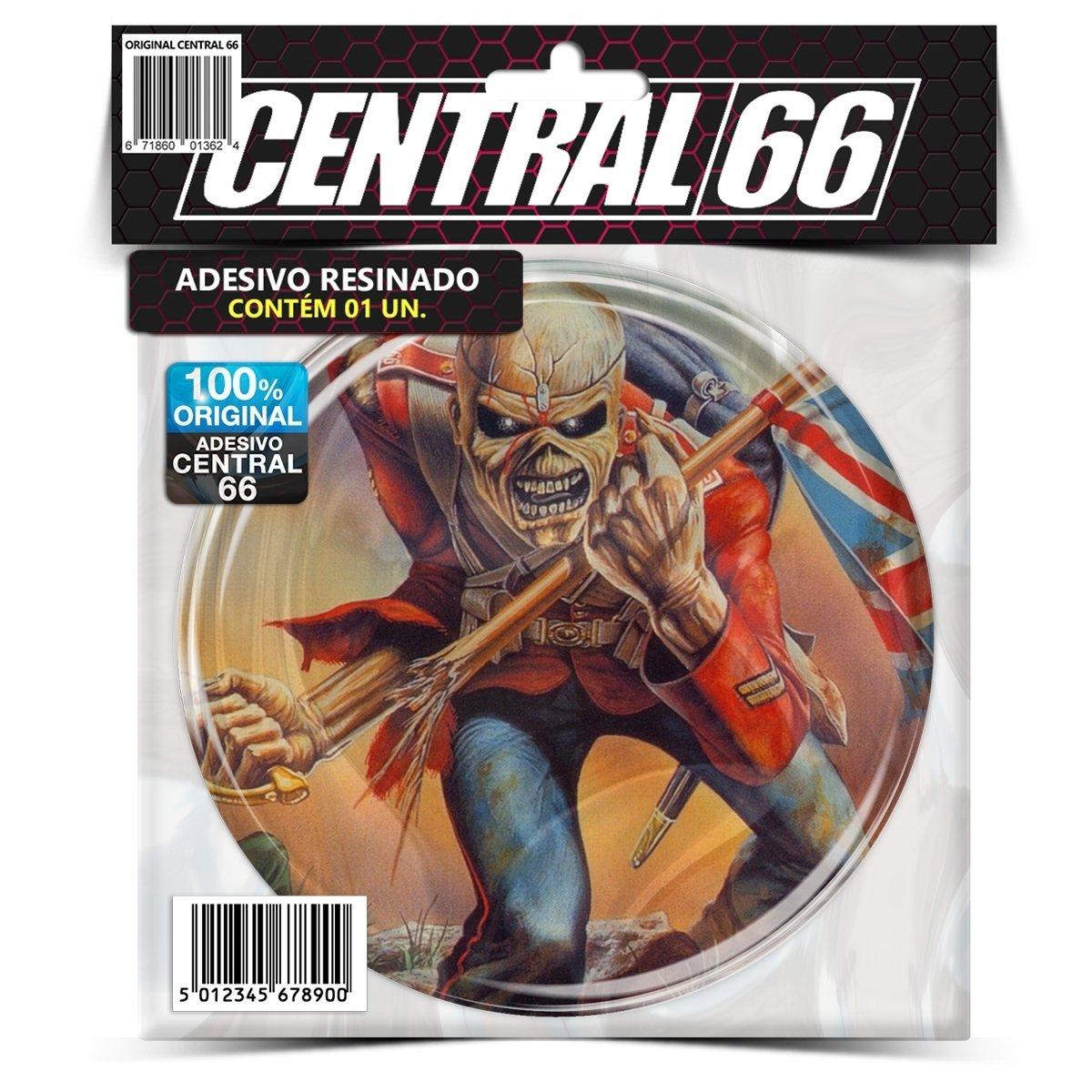 Adesivo Redondo Iron Maiden The Trooper – Central 66