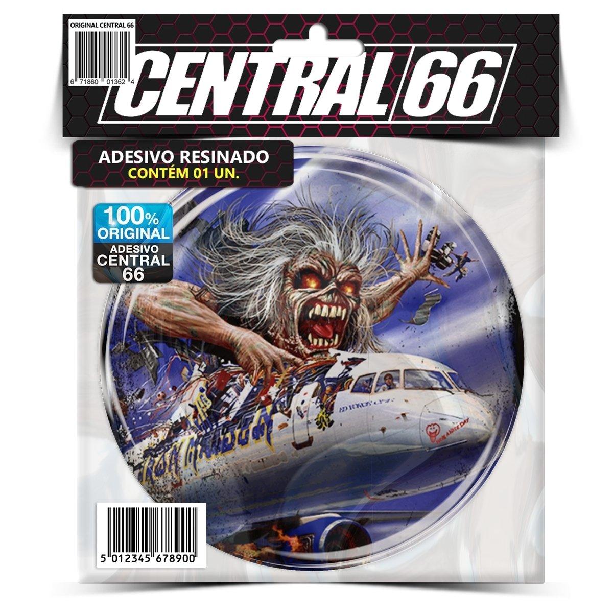 Adesivo Redondo Iron Mainde Flight 666 – Central 66