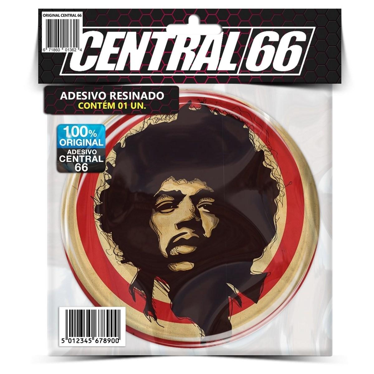 Adesivo Redondo Jimi Hendrix – Central 66