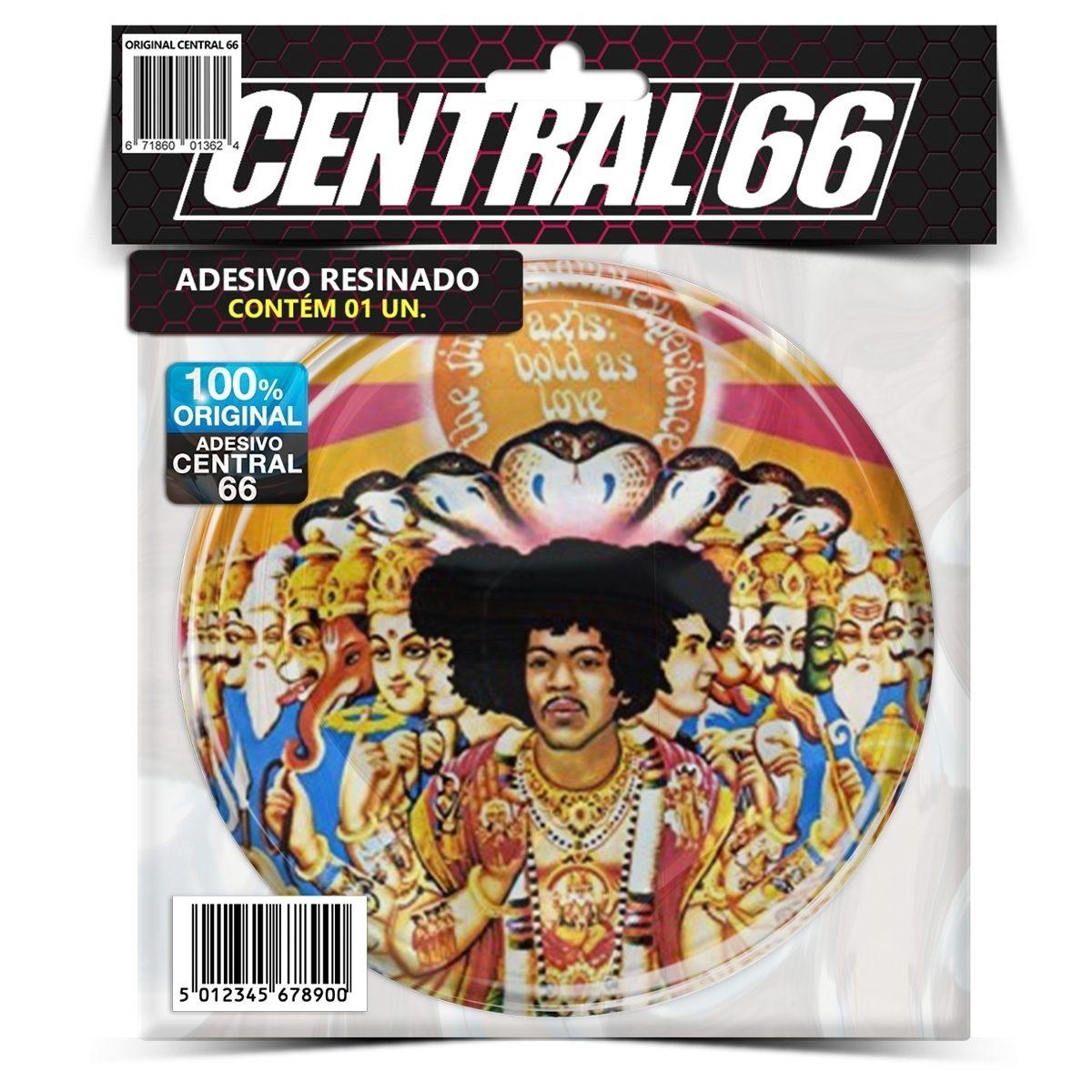 Adesivo Redondo Jimi Hendrix Experience – Central 66