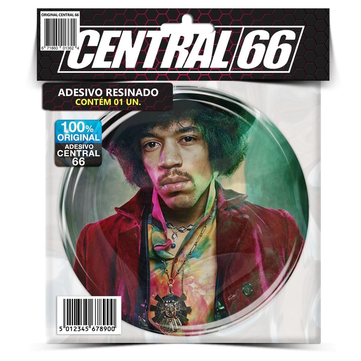 Adesivo Redondo Jimi Hendrix M02 – Central 66