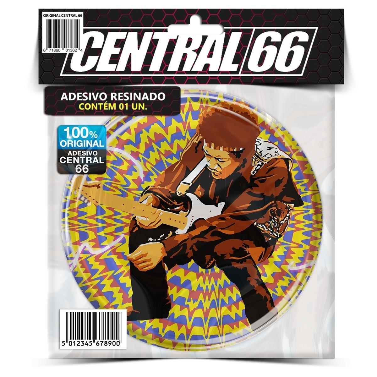 Adesivo Redondo Jimi Hendrix M03 – Central 66