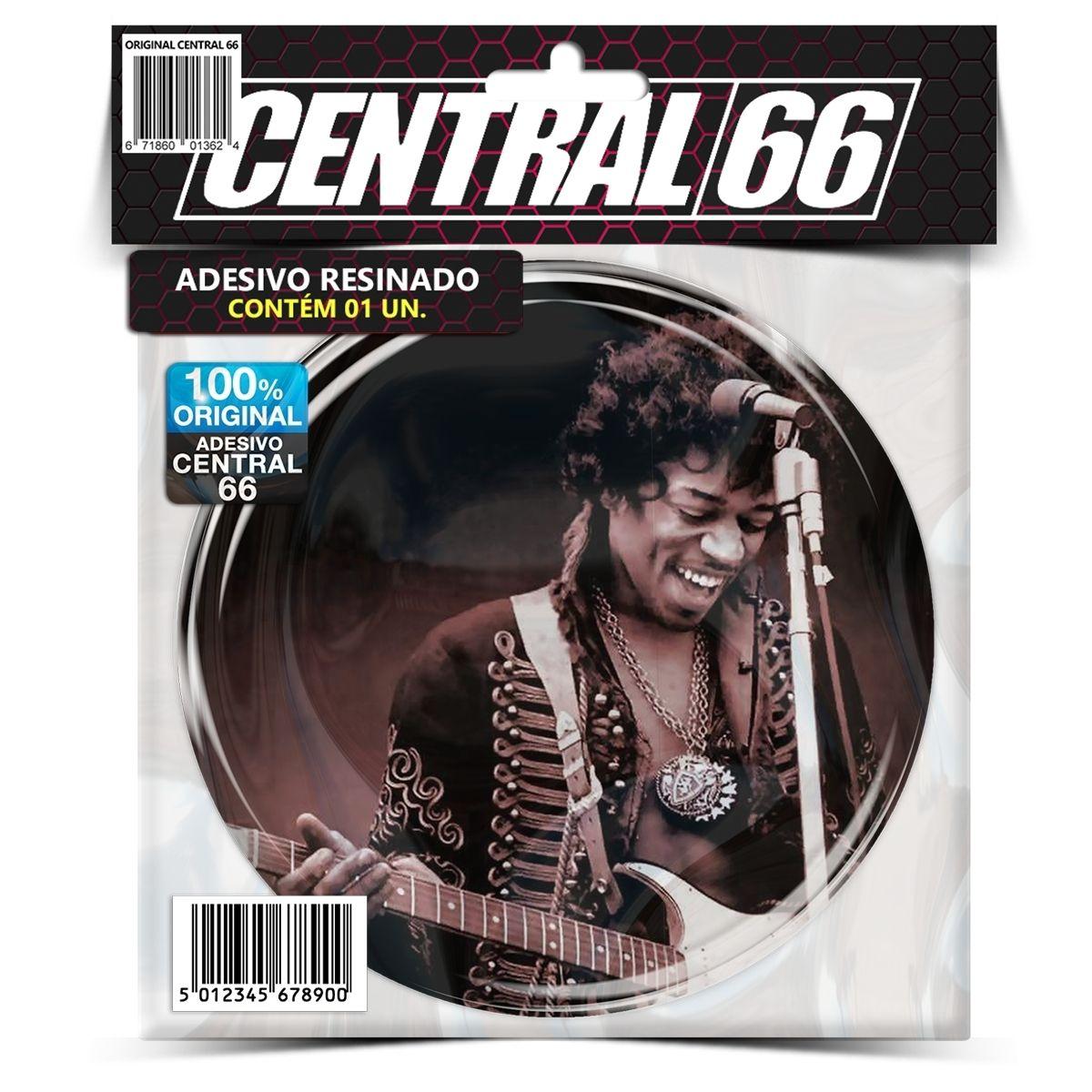 Adesivo Redondo Jimi Hendrix M04 – Central 66