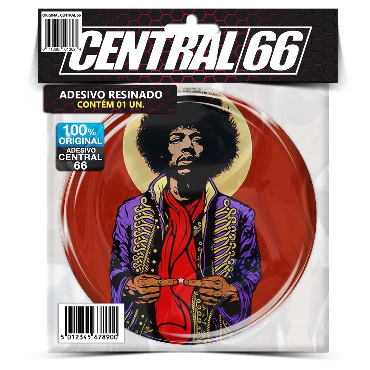 Adesivo Redondo Jimi Hendrix M05 – Central 66