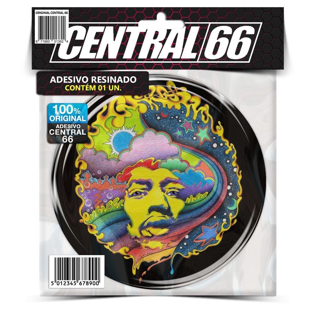Adesivo Redondo Jimi Hendrix M06 – Central 66