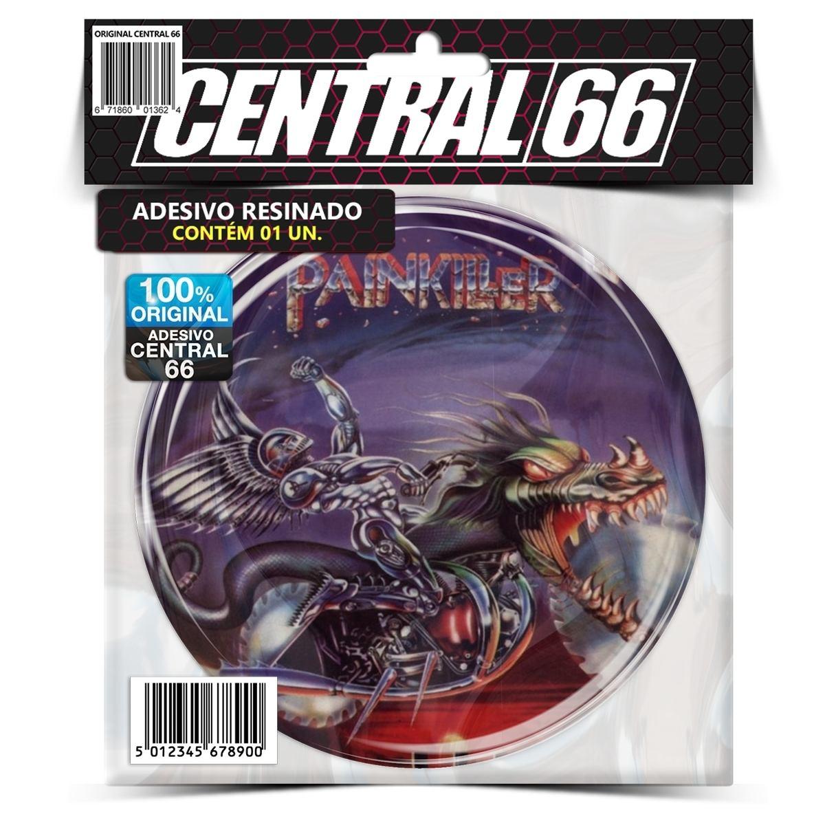 Adesivo Redondo Judas Priests Painkiller – Central 66
