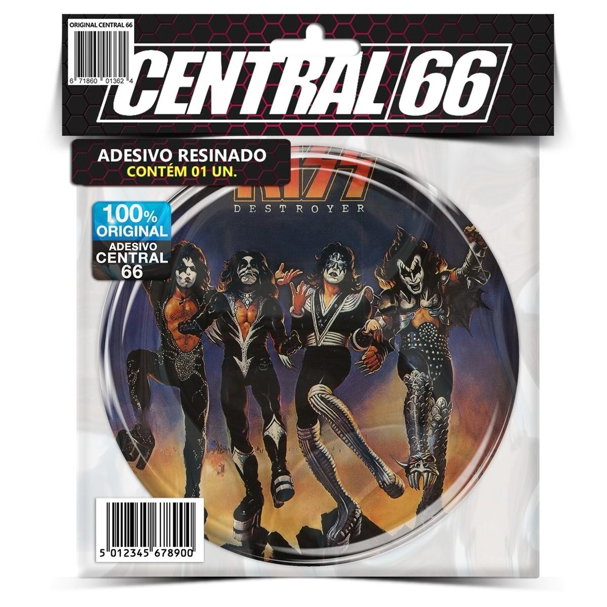 Adesivo Redondo Kiss Destroyer – Central 66