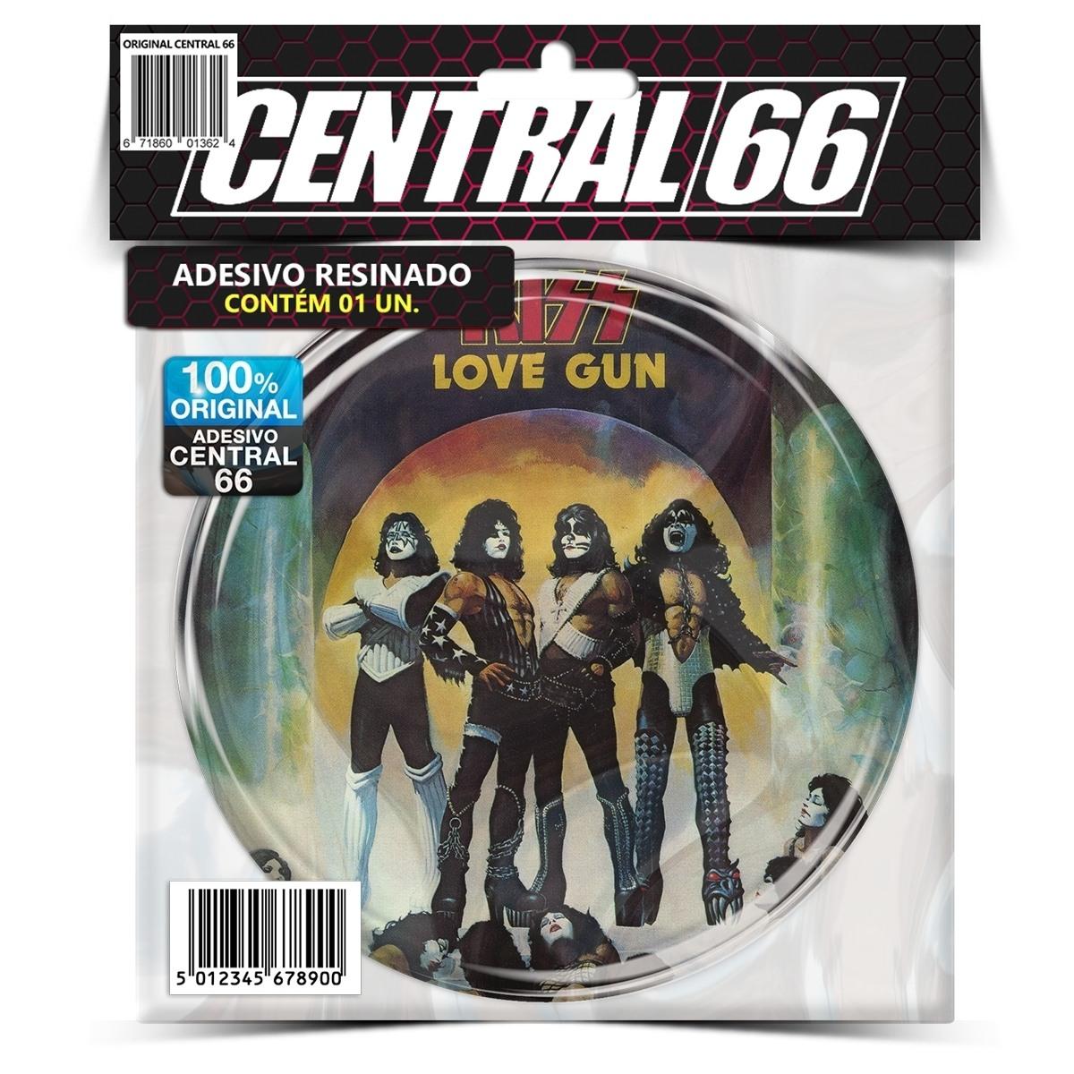 Adesivo Redondo Kiss Love Gun – Central 66