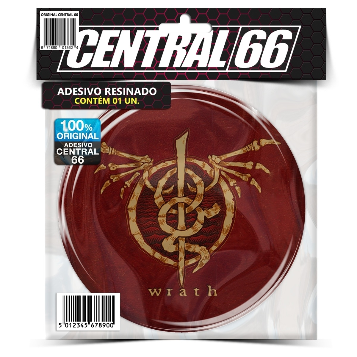 Adesivo Redondo Lamb of God Wrath – Central 66