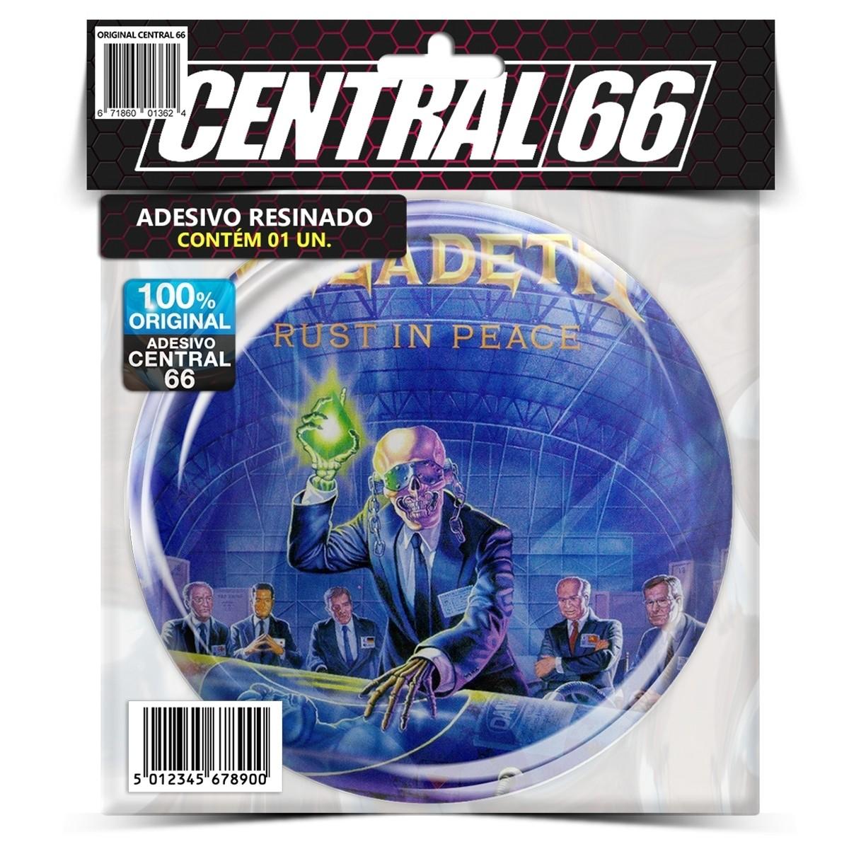 Adesivo Redondo Megadeth Rust in Peace – Central 66