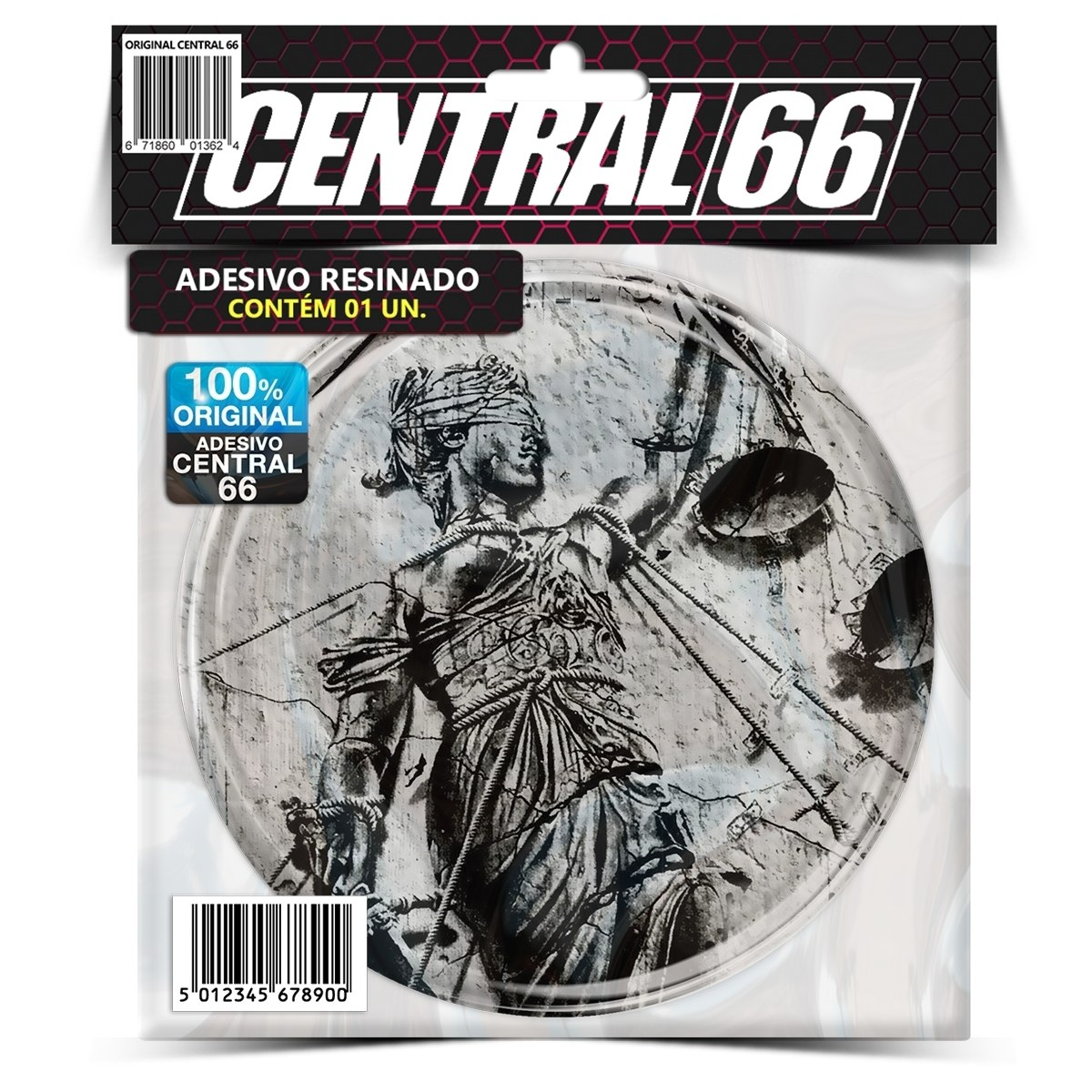 Adesivo Redondo Metallica And Justice For All – Central 66