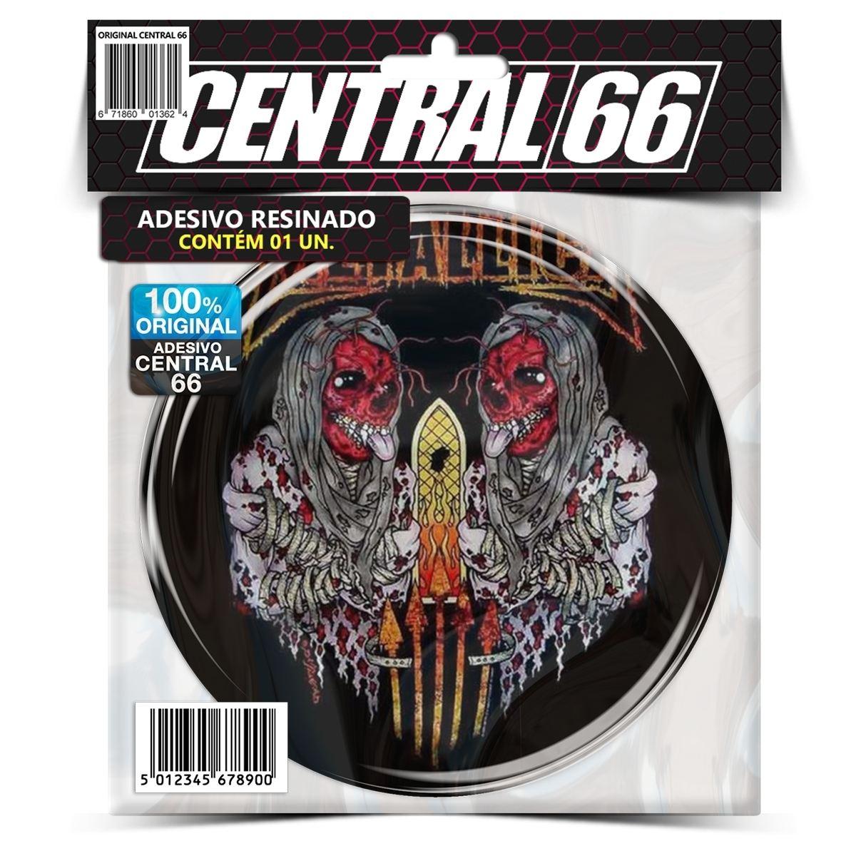 Adesivo Redondo Metallica – Central 66