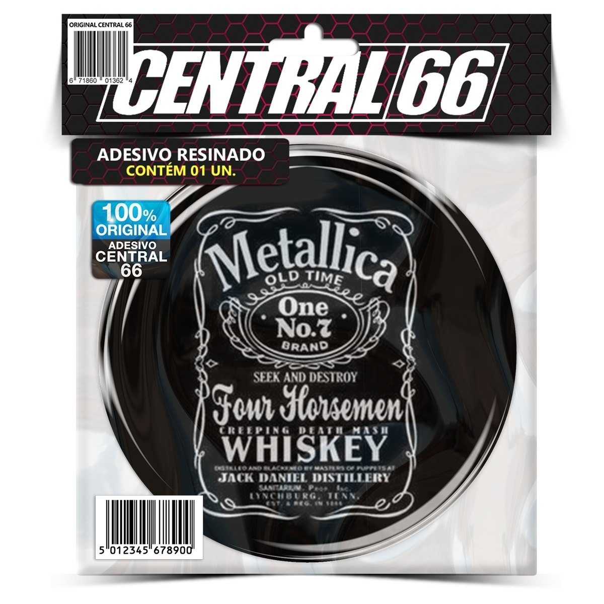 Adesivo Redondo Metallica Jack Daniels – Central 66