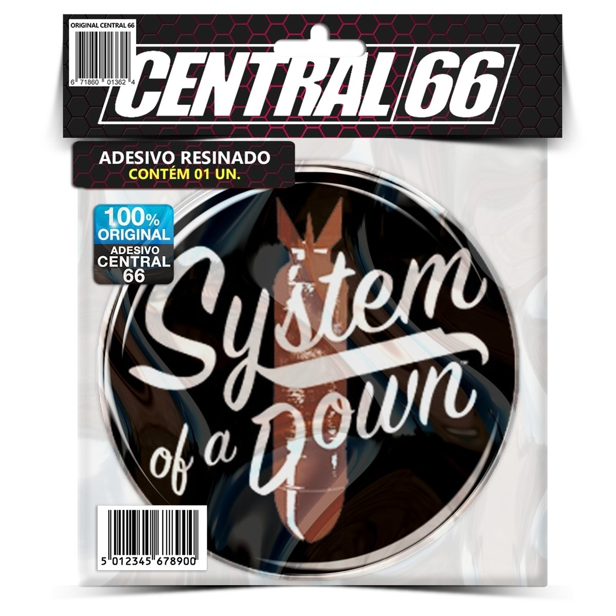 Adesivo Redondo System of a Down – Central 66