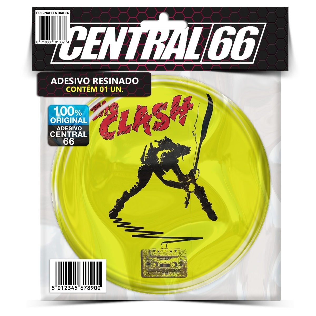 Adesivo Redondo The Clash M02 – Central 66