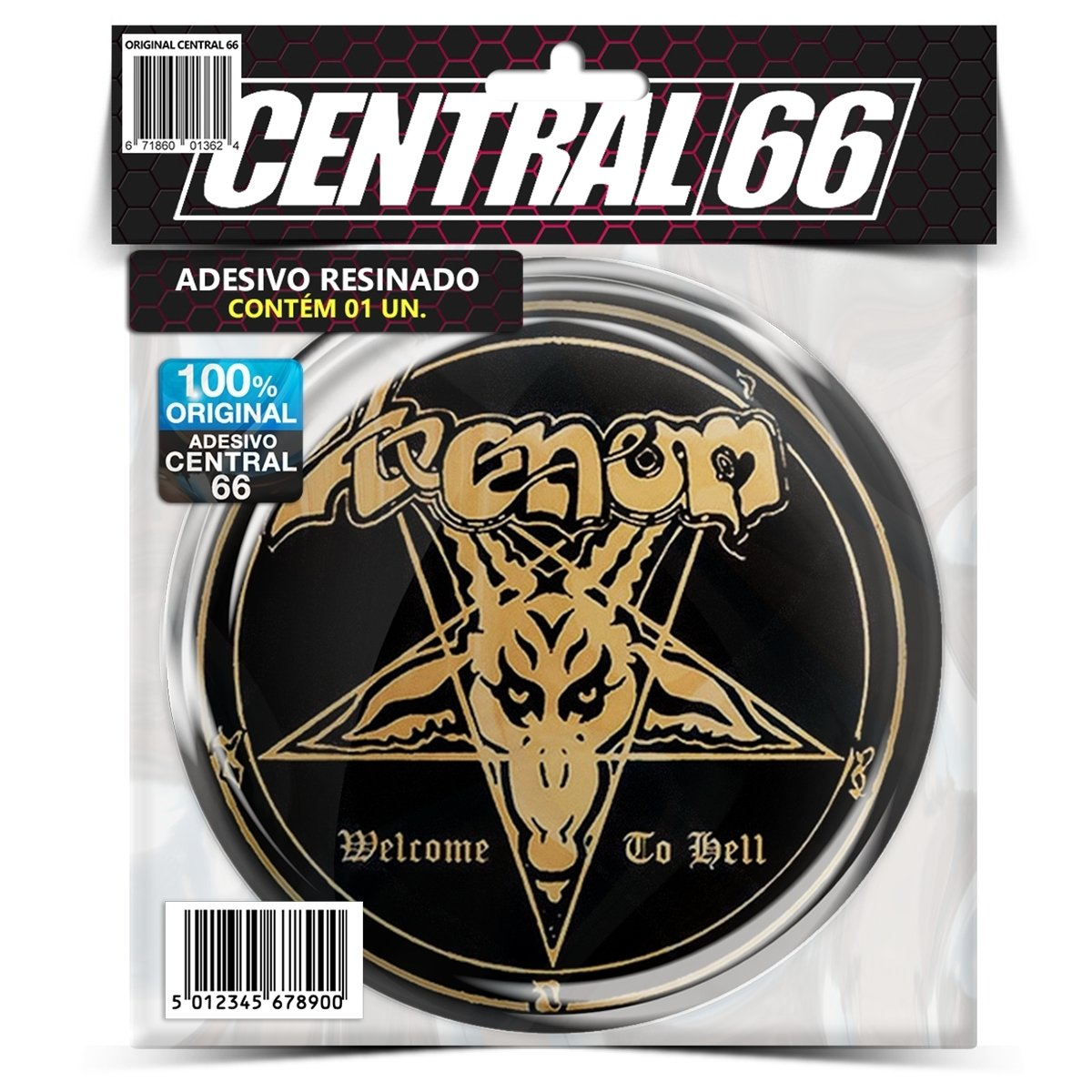 Adesivo Redondo Venom Welcome to Hell Pentagrama – Central 66
