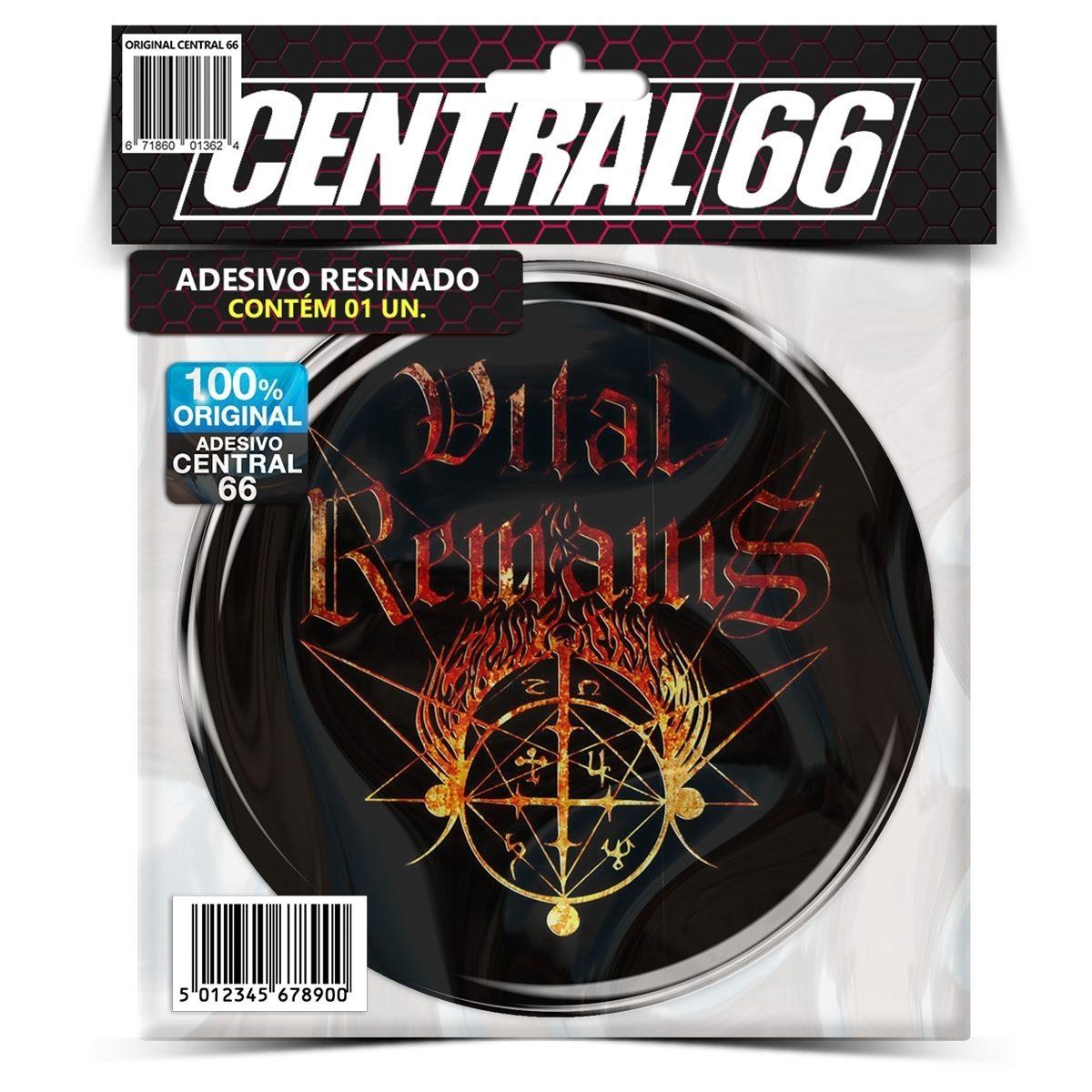 Adesivo Redondo Vital Remains Logo – Central 66