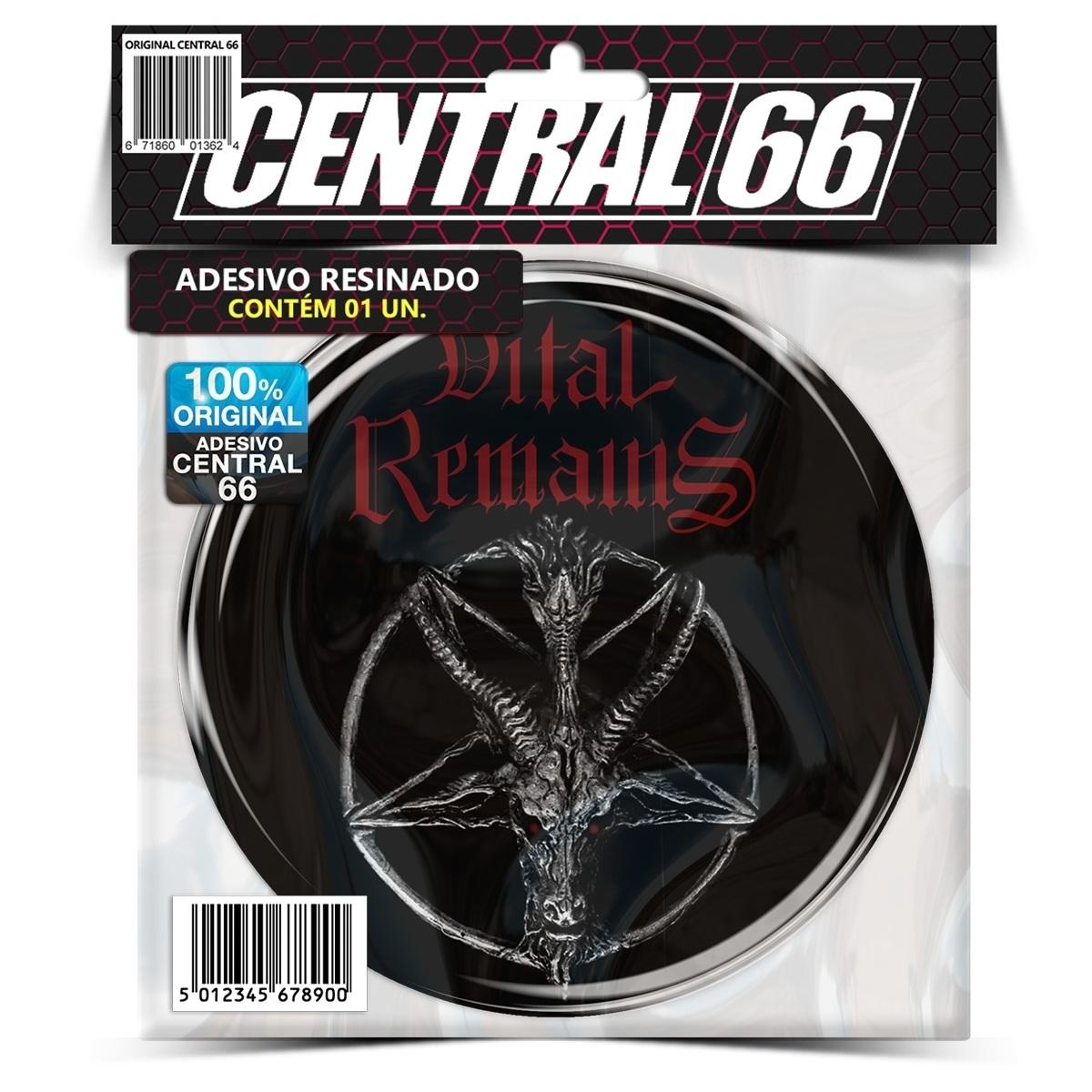 Adesivo Redondo Vital Remains Pentagrama Bode  – Central 66