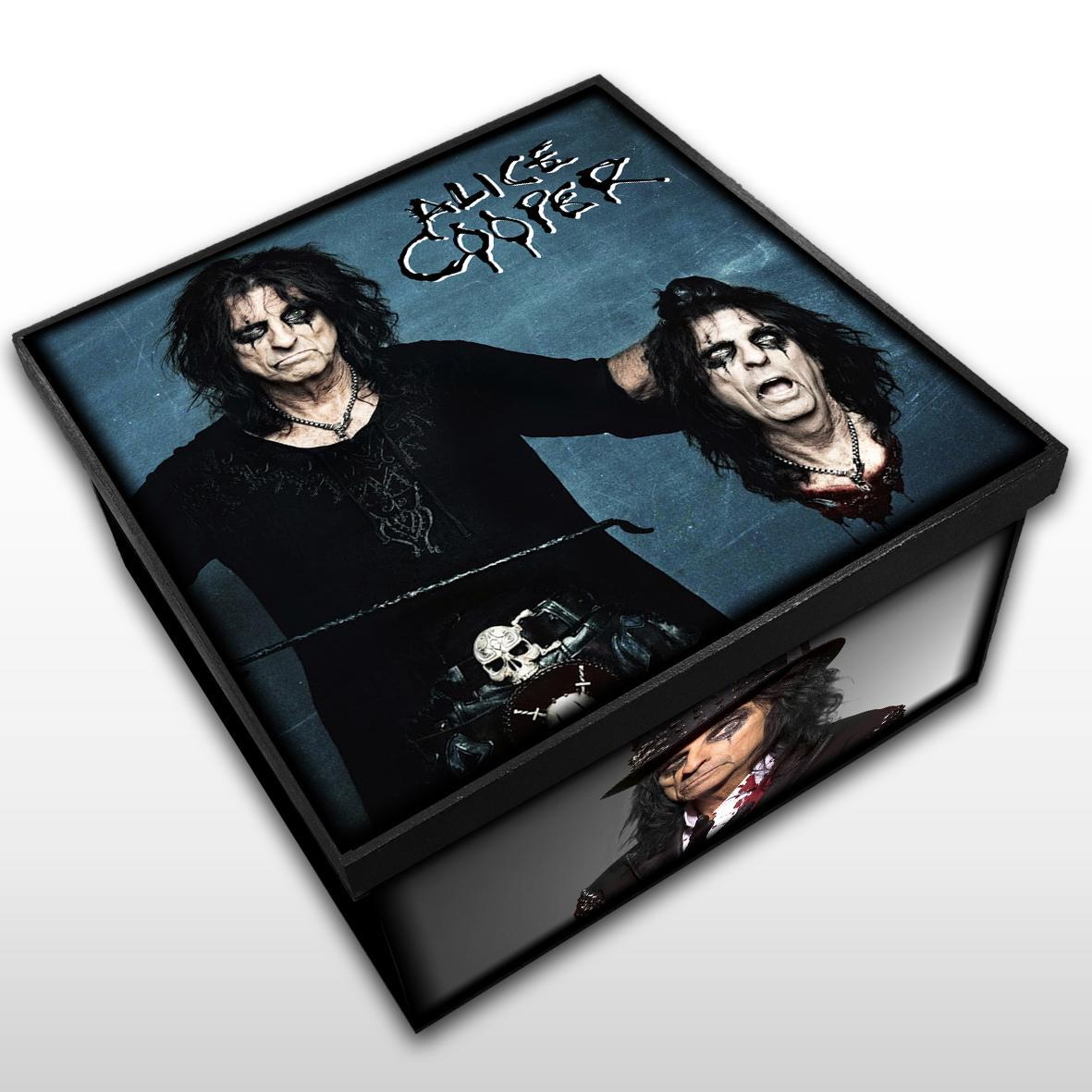 Alice Cooper - Caixa Organizadora em Madeira MDF - Tamanho Médio - Mr. Rock