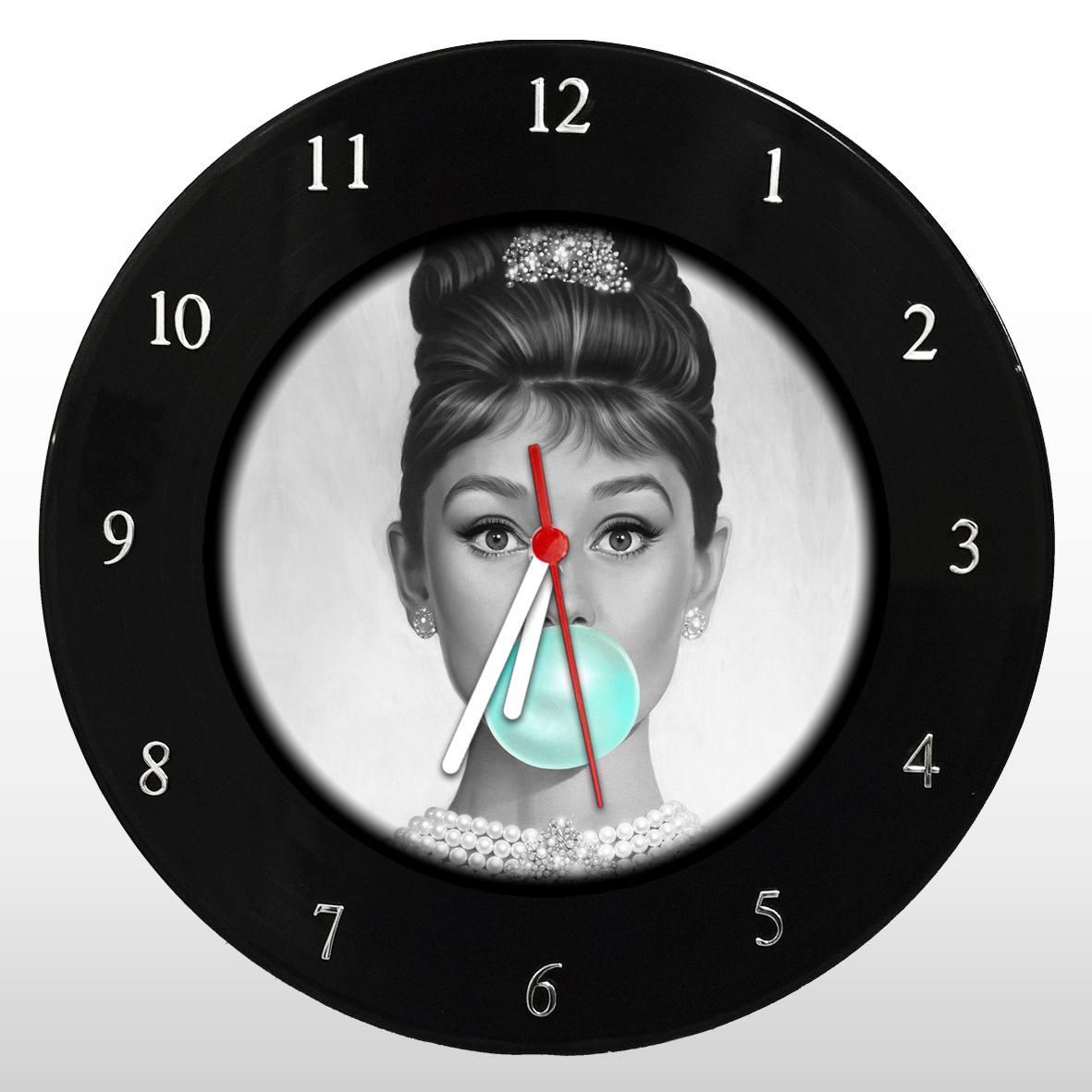 Audrey Hepburn - Relógio de Parede em Disco de Vinil - Mr. Rock