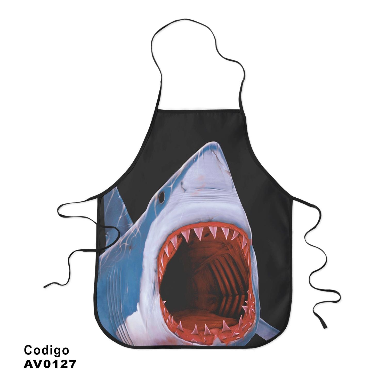 Avental Exclusivo Tubarão 3d
