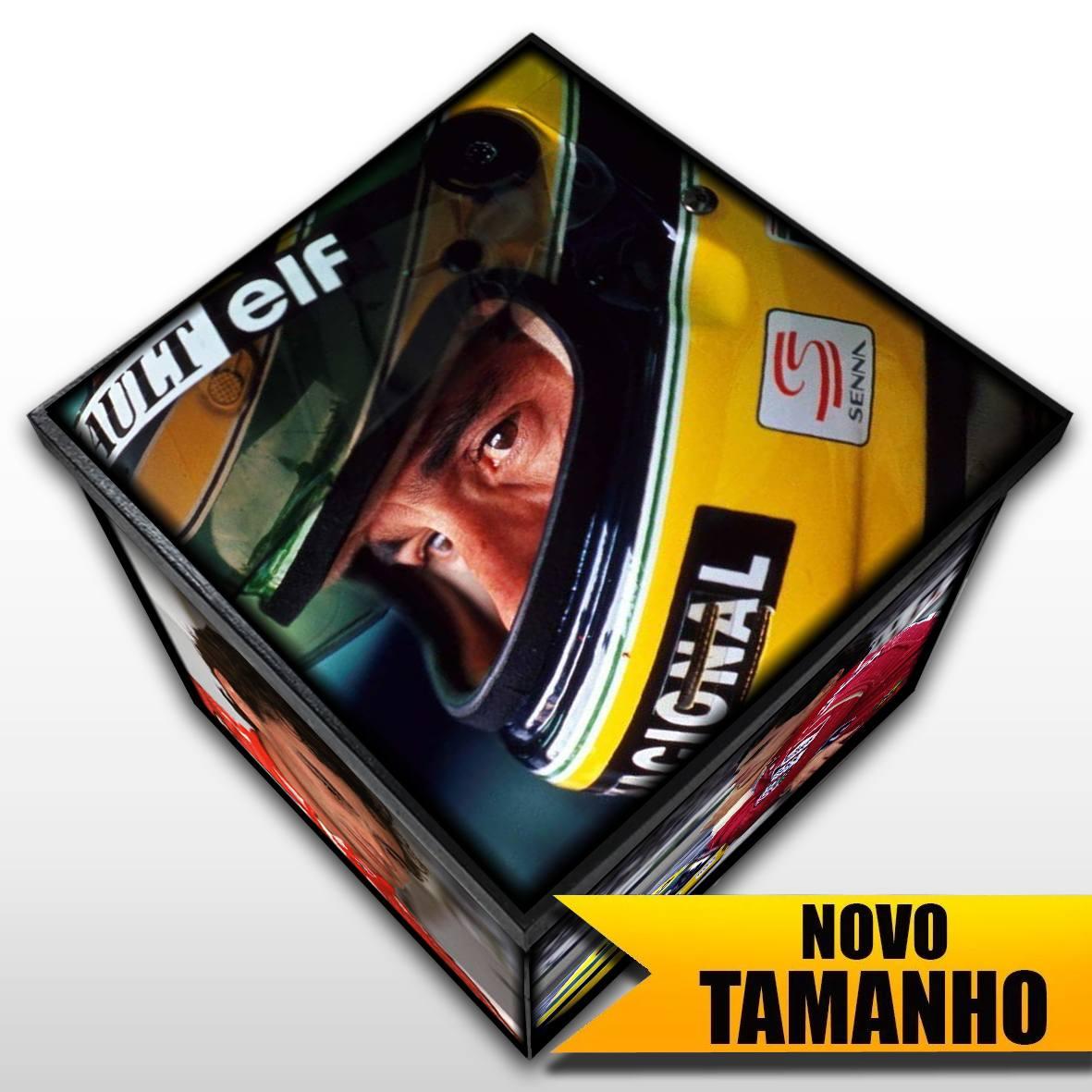 Ayrton Senna - Caixa em MDF - Tam. Grande - Mr. Rock