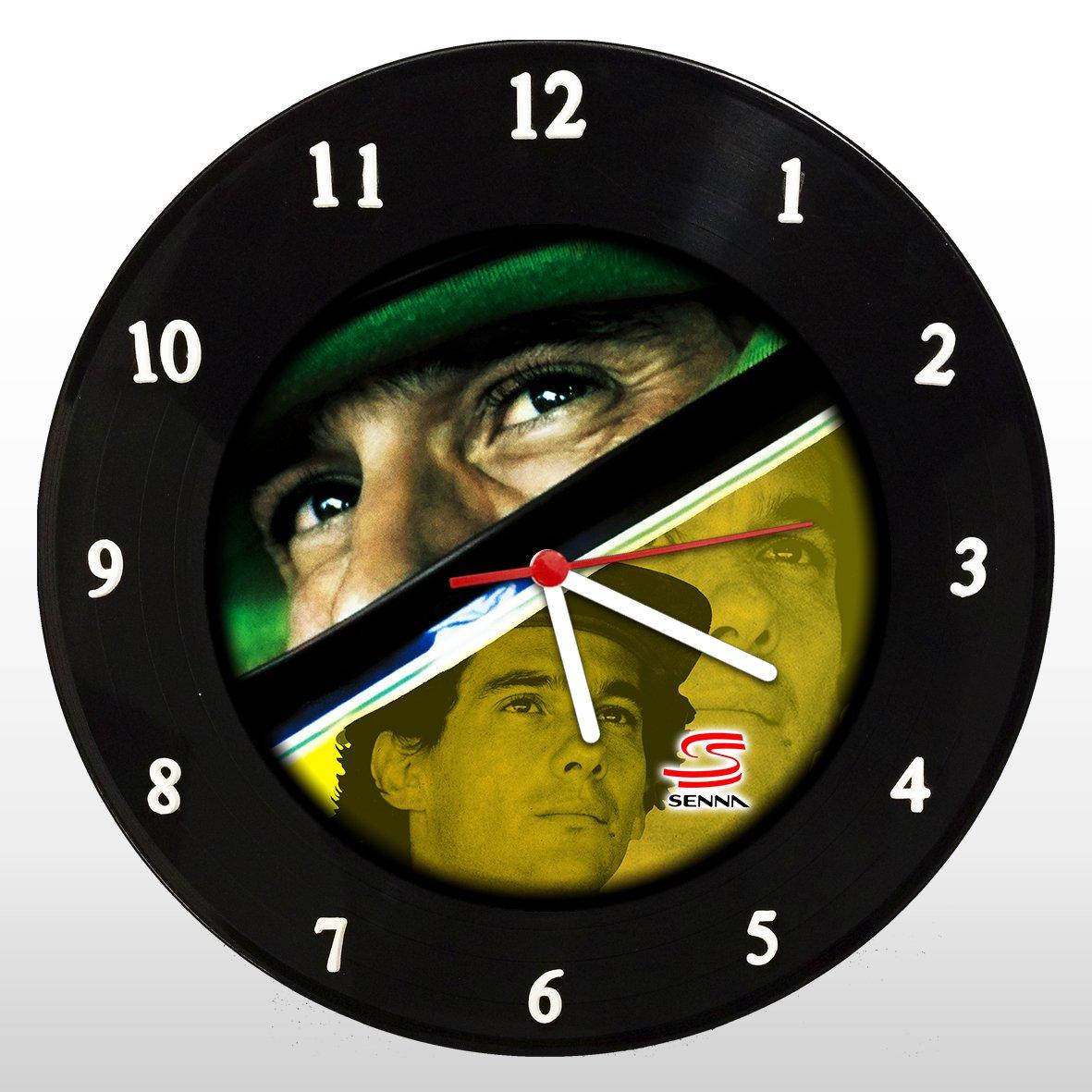 Ayrton Senna - Relógio de Parede em Disco de Vinil - Mr. Rock