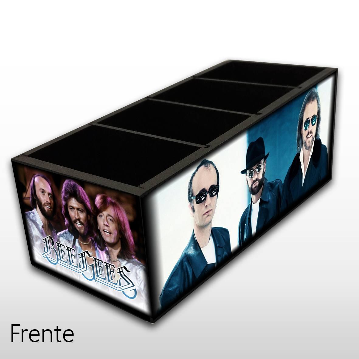 Bee Gees - Porta Controles em Madeira MDF - 4 Espaços - Mr. Rock