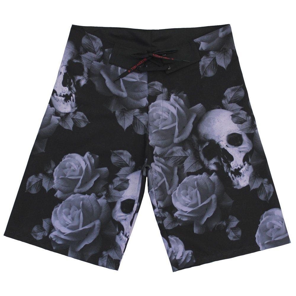 Bermuda Masculina Camuflada Skull Darkness - Bloody Hell Wear