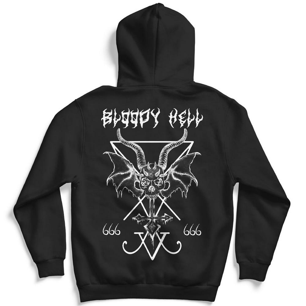 Blusão Moletom sem Capuz Unissex Angel Of Death - Bloody Hell Wear