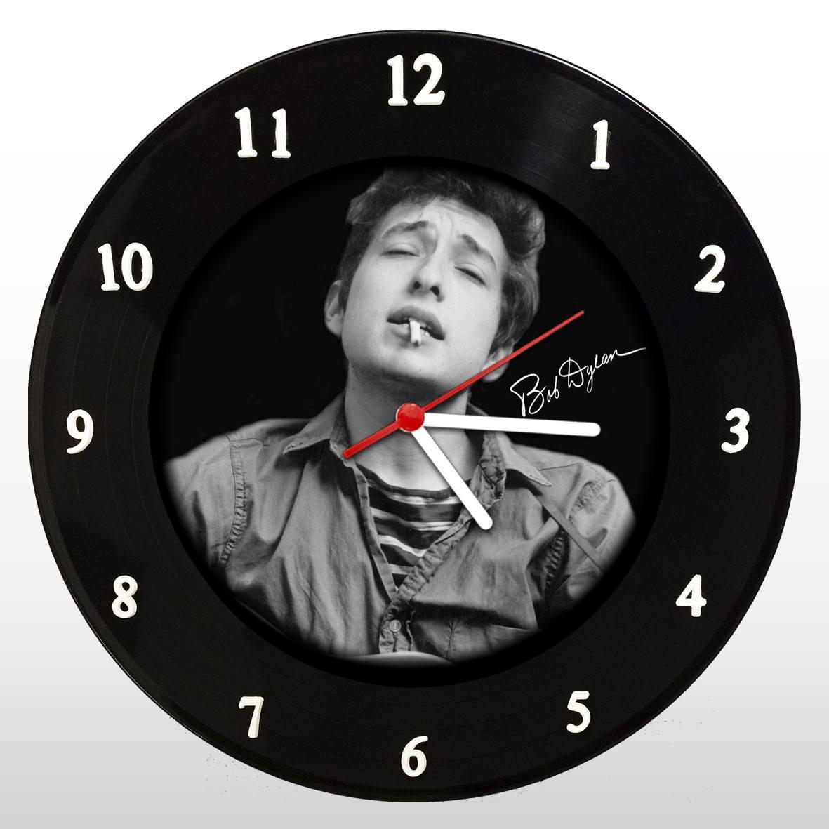 Bob Dylan - Relógio de Parede em Disco de Vinil - Mr. Rock