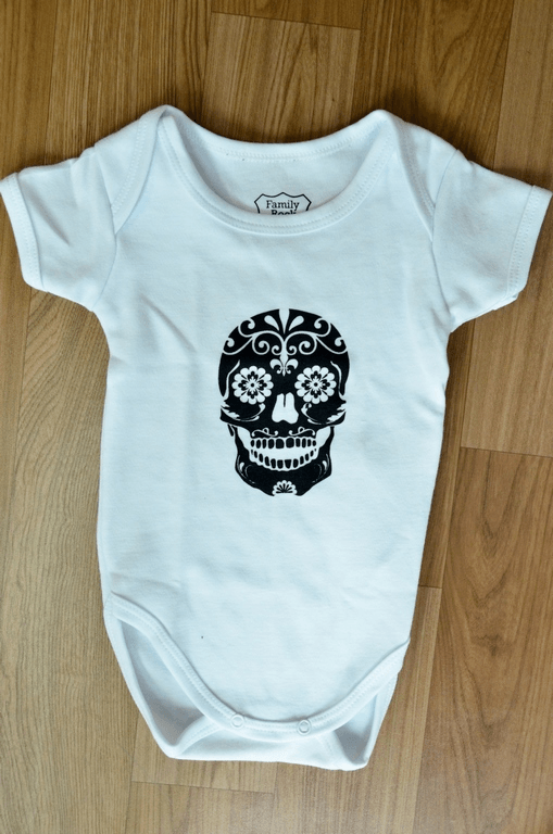 Body Infantil Caveira Mexicana Family Rock
