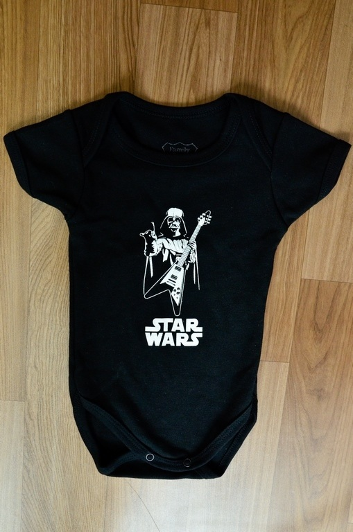 Body Infantil Darth Vader Guitarra Family Rock