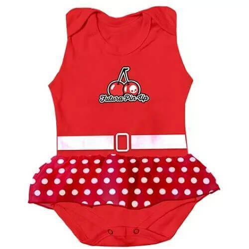 Body Infantil Futura Pin Up