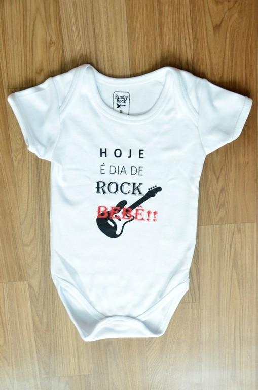 Body infantil Hoje é Dia de Rock Bebê