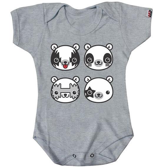 Body Infantil Kiss / Pandas
