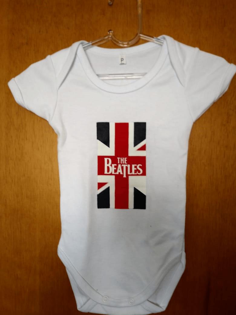 Body Infantil The Beatles Bandeira Inglaterra Family Rock