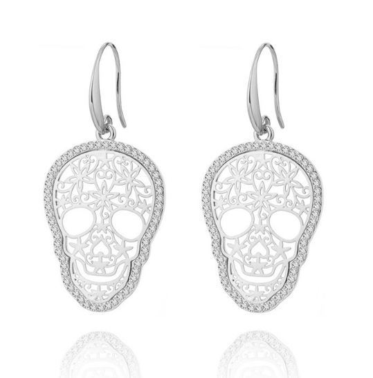 Brinco Skull Crystal – SkullAchando