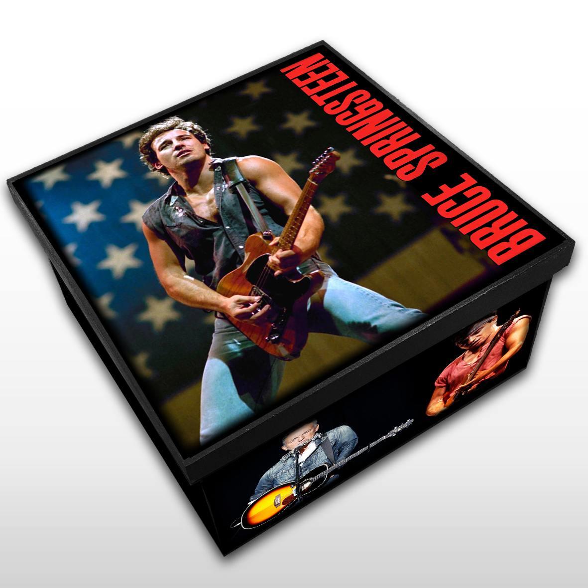 Bruce Springsteen - Caixa Organizadora em Madeira MDF - Tamanho Médio - Mr. Rock