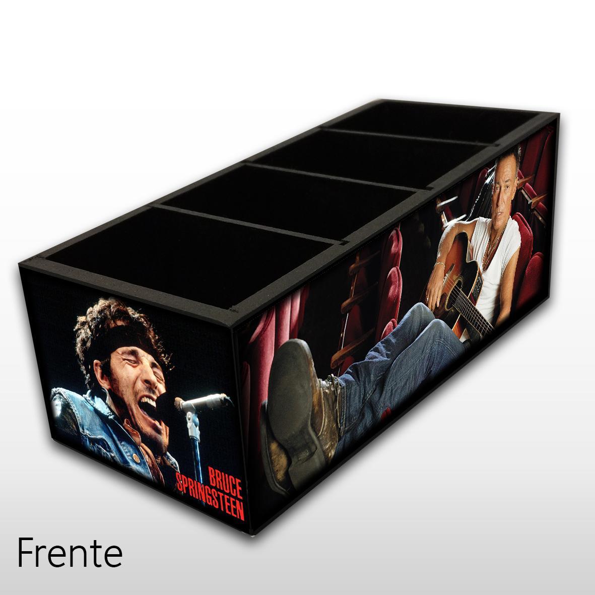 Bruce Springsteen - Porta Controles em Madeira MDF - 4 Espaços - Mr. Rock