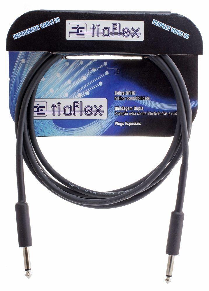 Cabo de Guitarra, Violão e Contrabaixo P10 Instrument Cable 20 - 5m Tiaflex