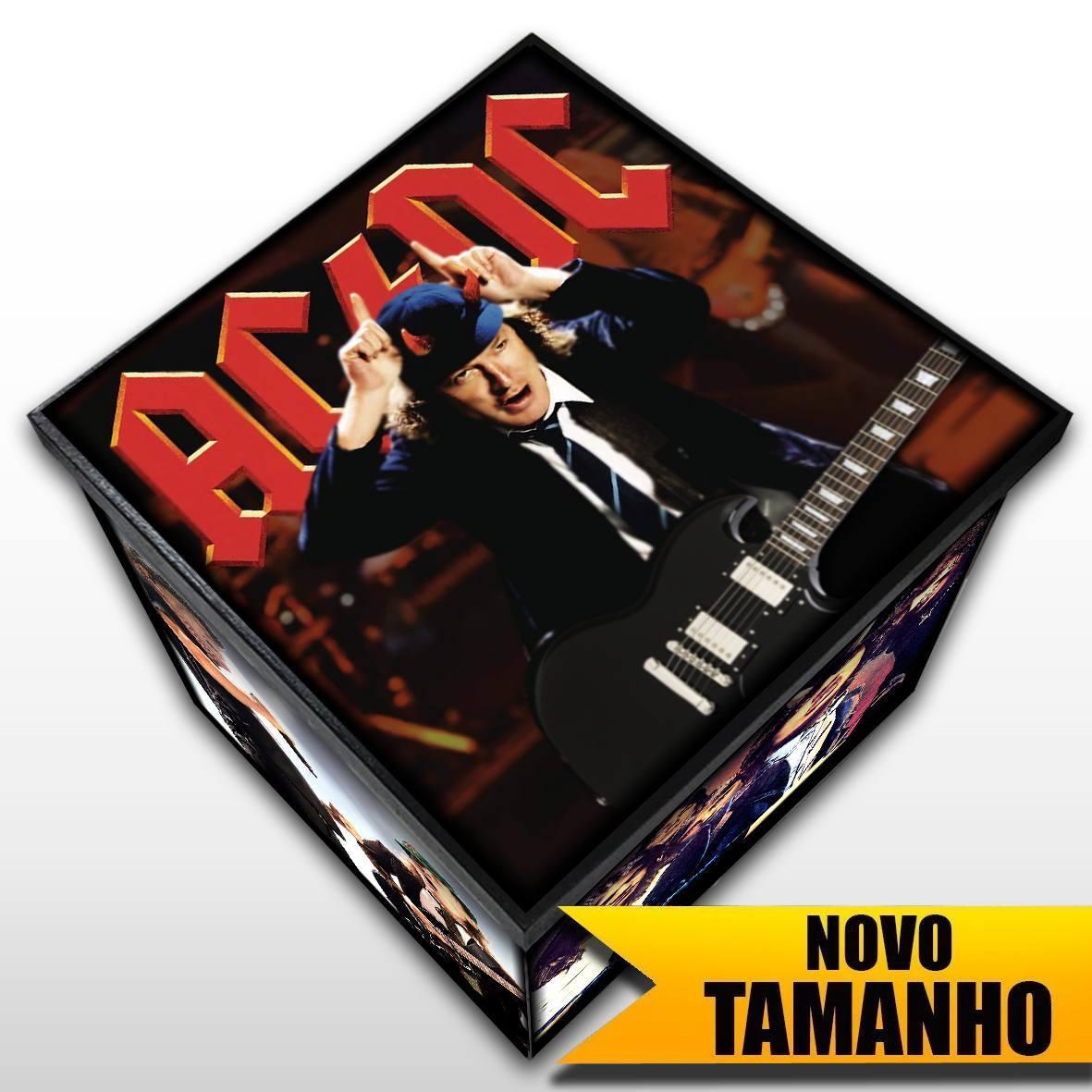 AC/DC - Caixa em Madeira MDF - Tamanho Grande - Mr. Rock