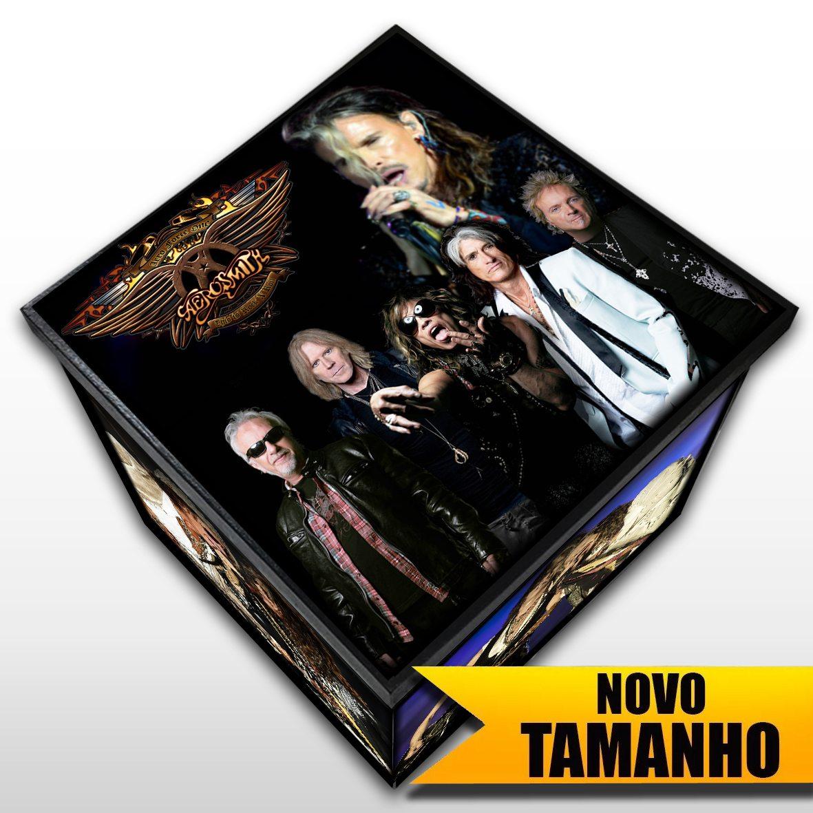Aerosmith - Caixa em Madeira MDF - Tamanho Grande - Mr. Rock