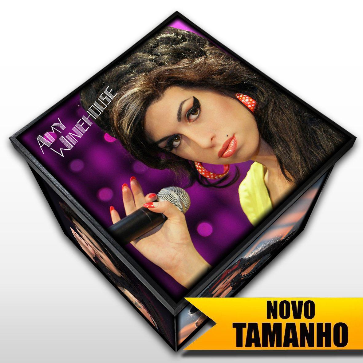 Amy Winehouse - Caixa em Madeira MDF - Tamanho Grande - Mr. Rock