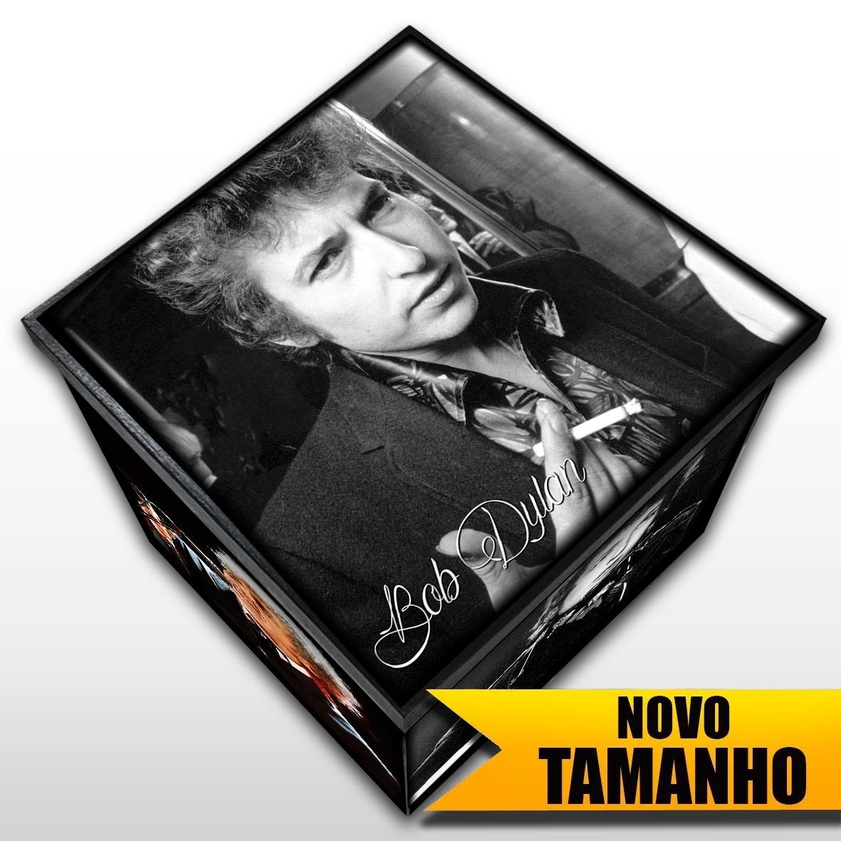 Bob Dylan - Caixa Em Madeira MDF - Tamanho Grande - Mr. Rock
