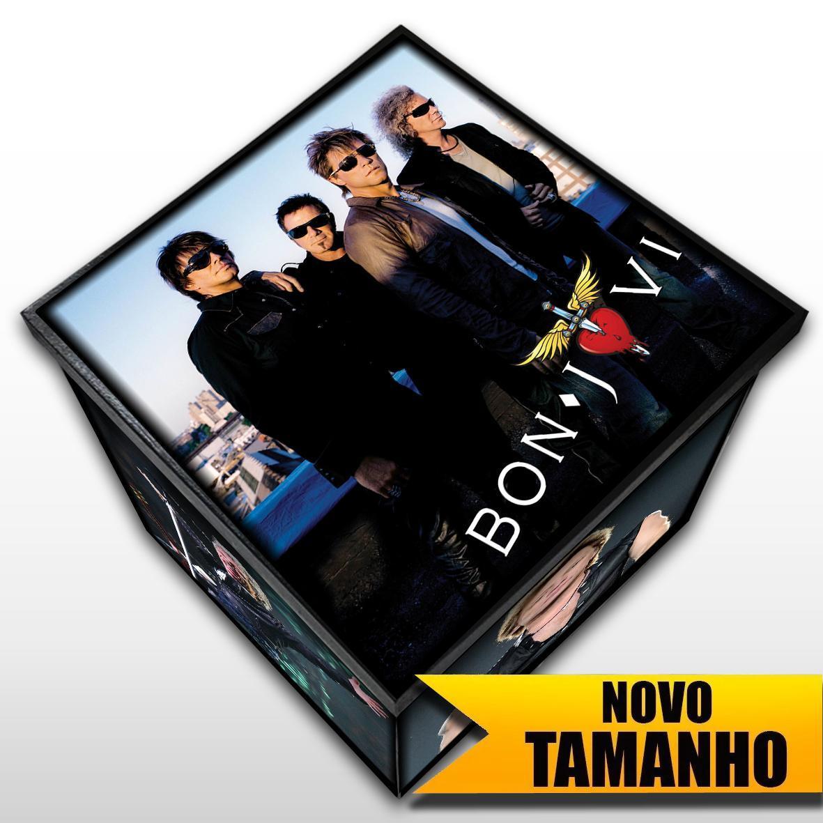 Bon Jovi - Caixa em Madeira MDF - Tamanho Grande - Mr. Rock