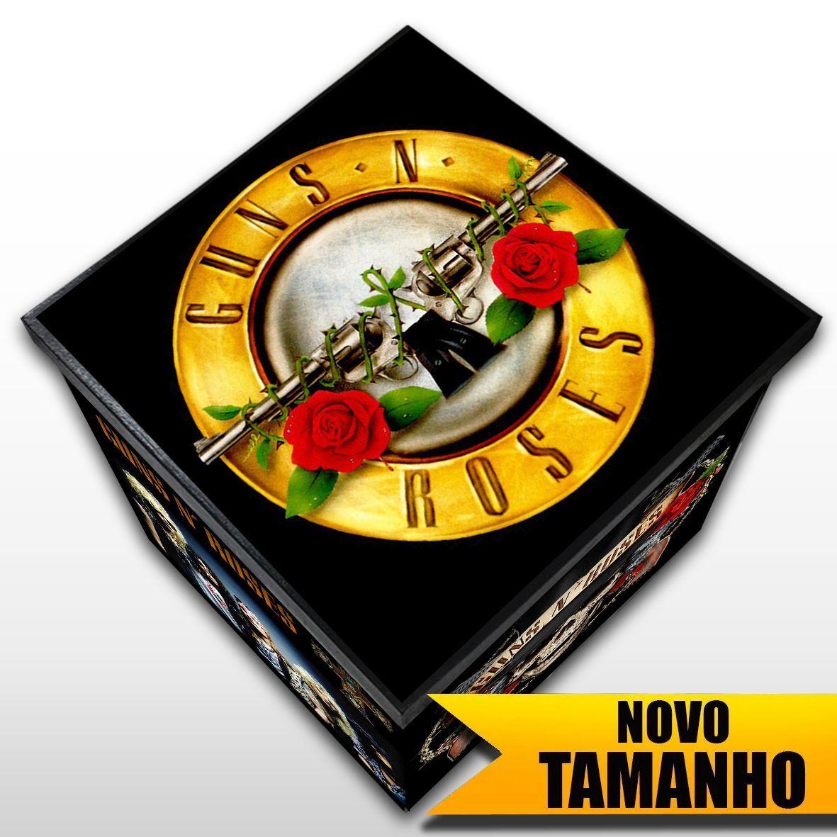 Guns n' Roses - Caixa Organizadora em Madeira MDF - Tamanho Grande - Mr. Rock