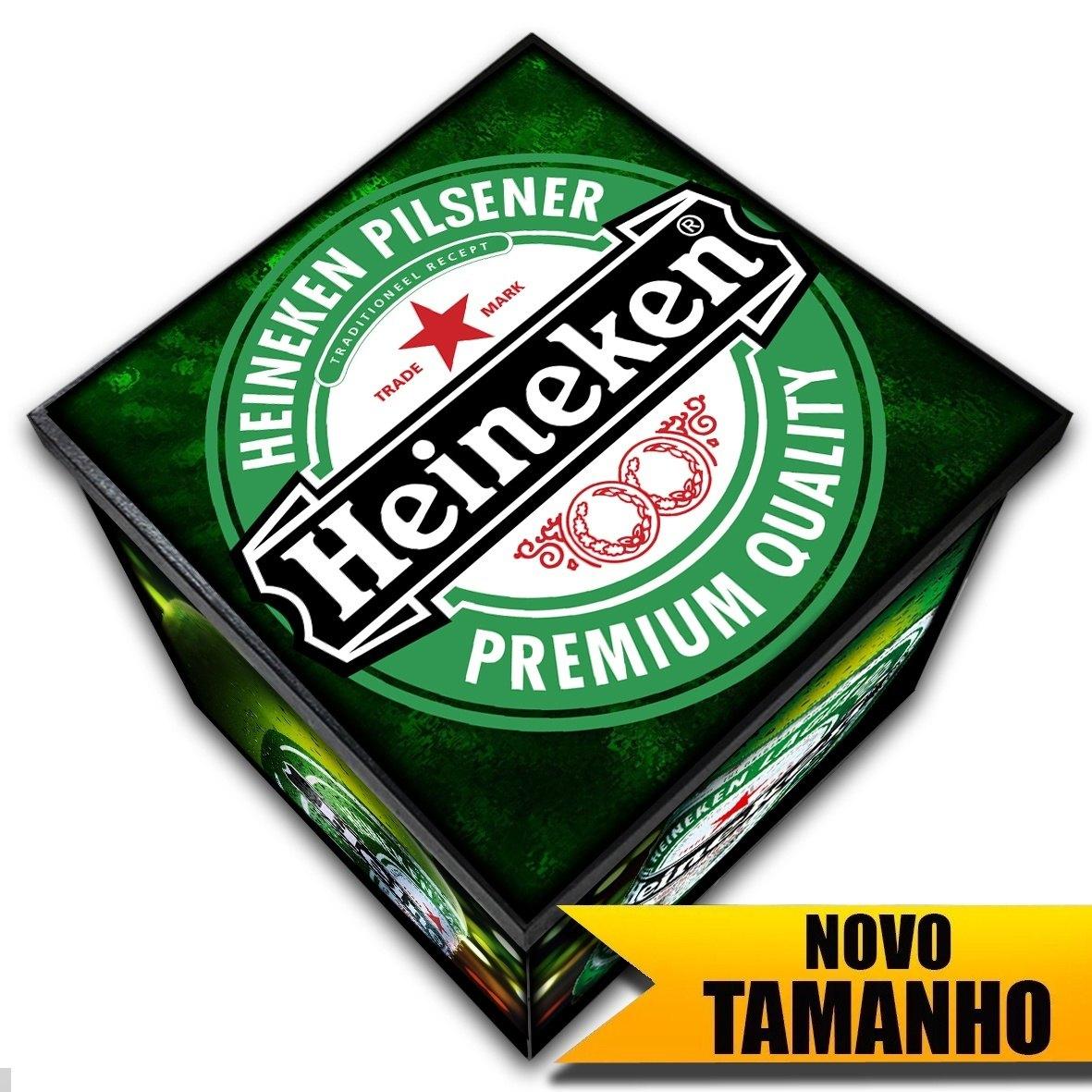 Heineken - Caixa Organizadora em Madeira MDF - Tamanho Grande - Mr. Rock