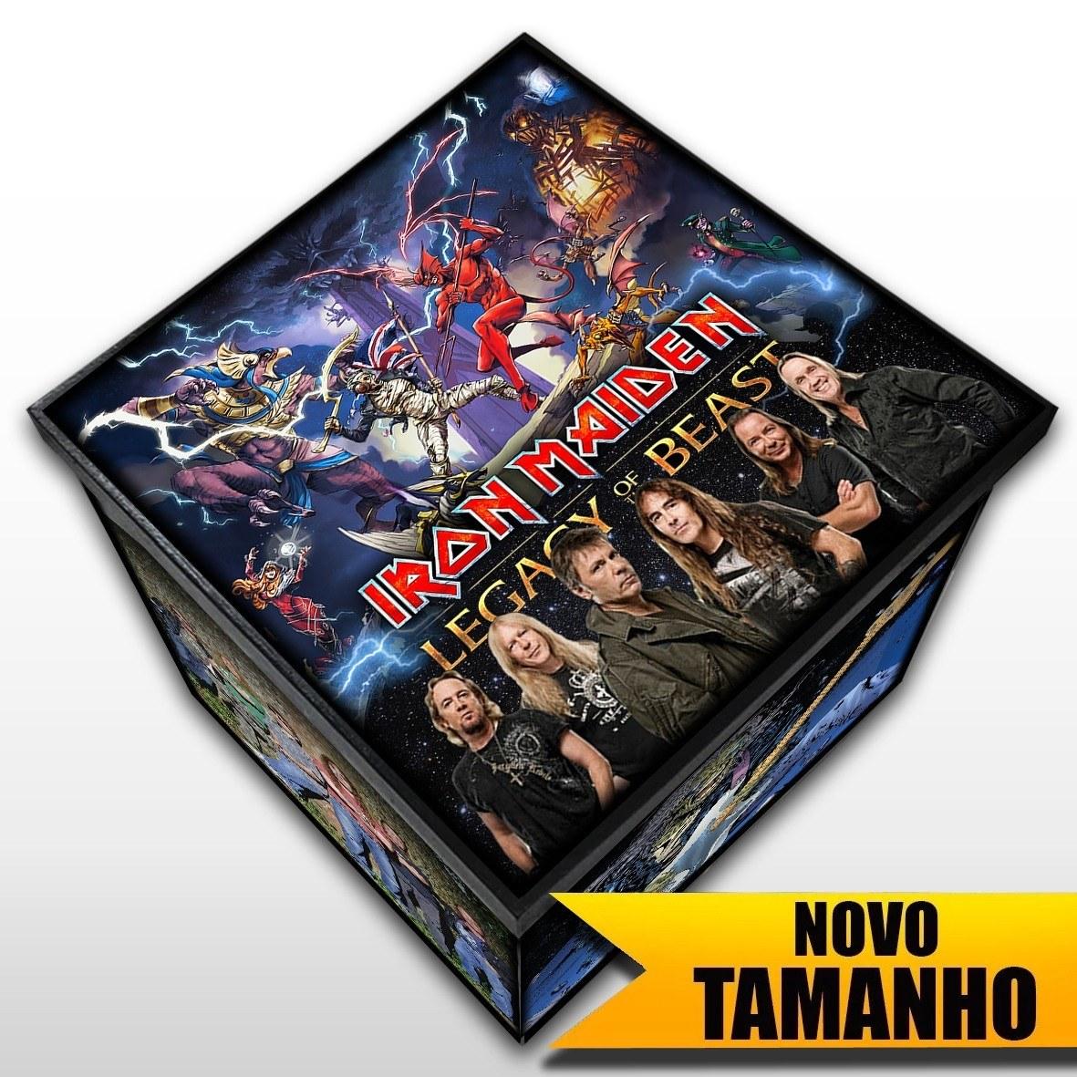 Iron Maiden - Caixa Organizadora em Madeira MDF - Tamanho Grande - Mr. Rock