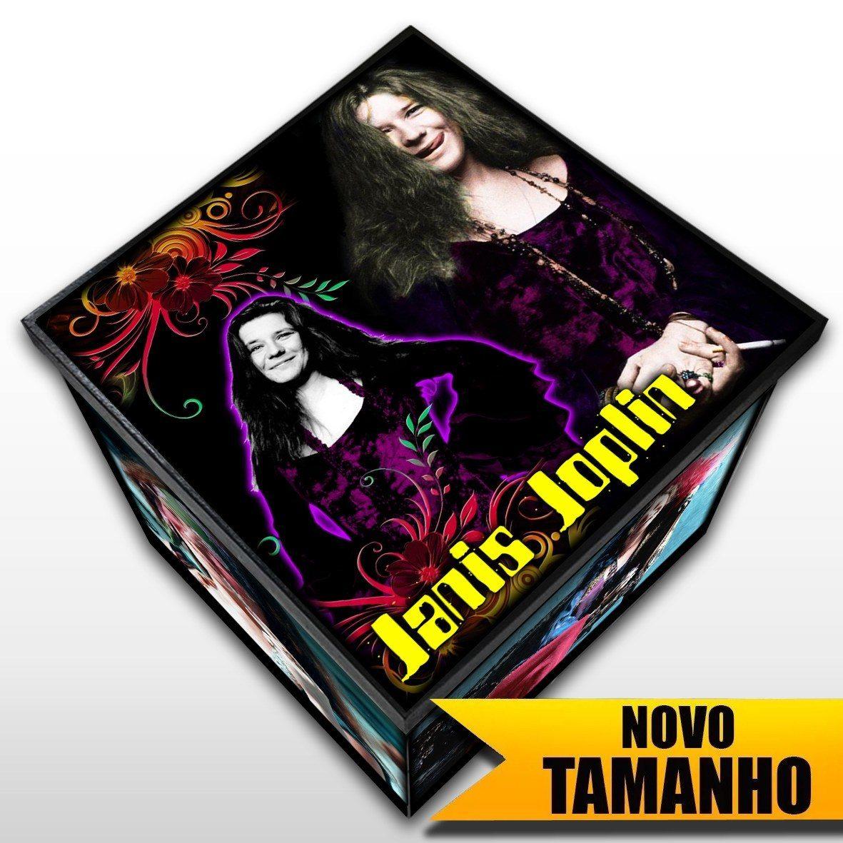 Janis Joplin - Caixa em Madeira MDF - Tamanho Grande - Mr. Rock